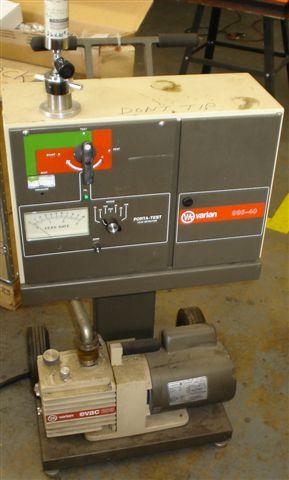 Varian 936-40 Helium Leak Detector – Reads Helium Well